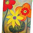 Happy flowers by Vikki Mancil Weigel