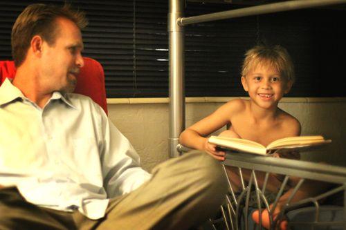 Christopher reading