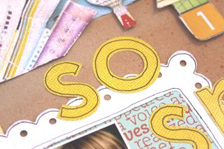 Sticker letter closeup