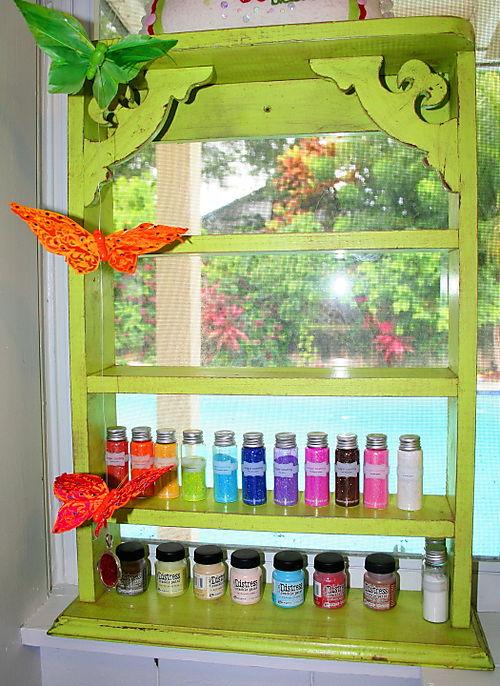 My lovely lime green shelf