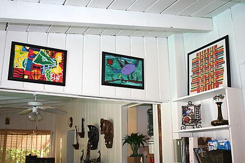 Alexander's framed artwork